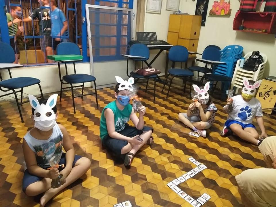Musicalização infantil II prof Jacob: Luis Otávio, Davi, Maria Isabel e Maria Eduarda